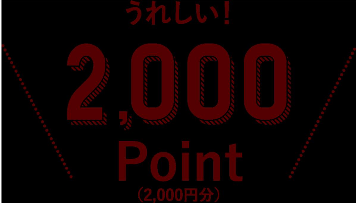 うれしい!2000pointプレゼント
